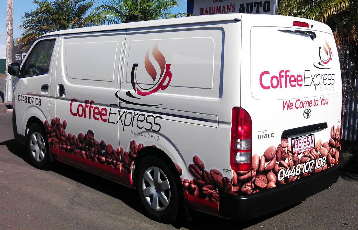 SignMax Bundaberg Coffee Express