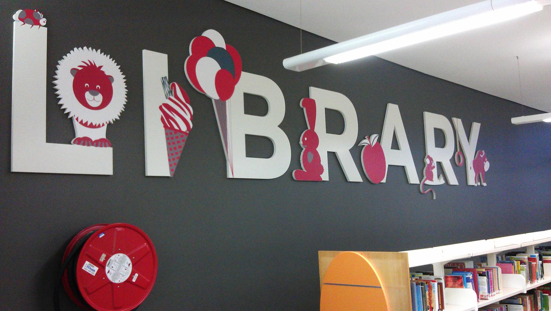 Bundaberg Library Sign by SignMax