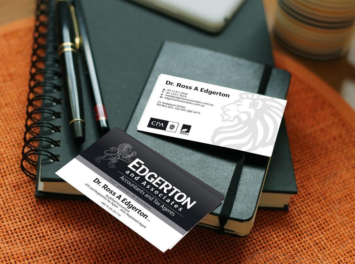 Edgertons Business Card by SignMax Bundaberg