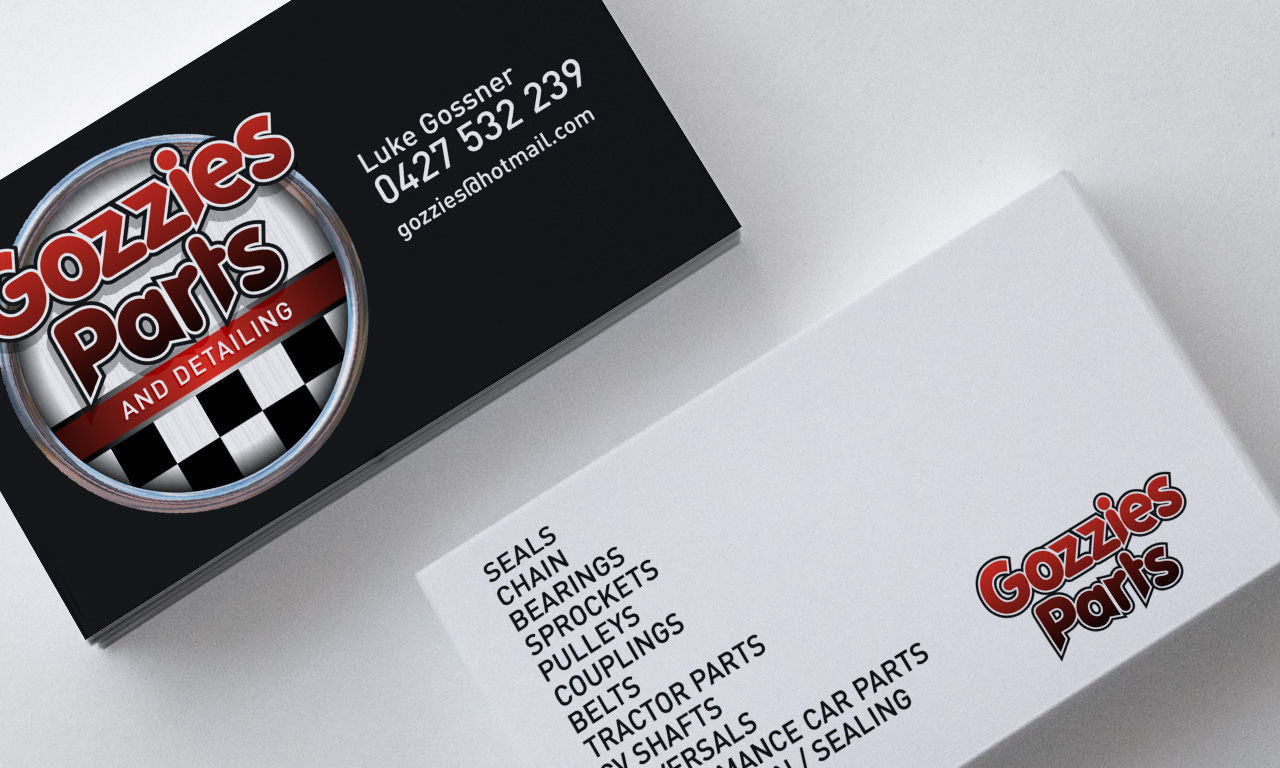 Gozzies Parts And Detailing Card By SignMax Bundaberg