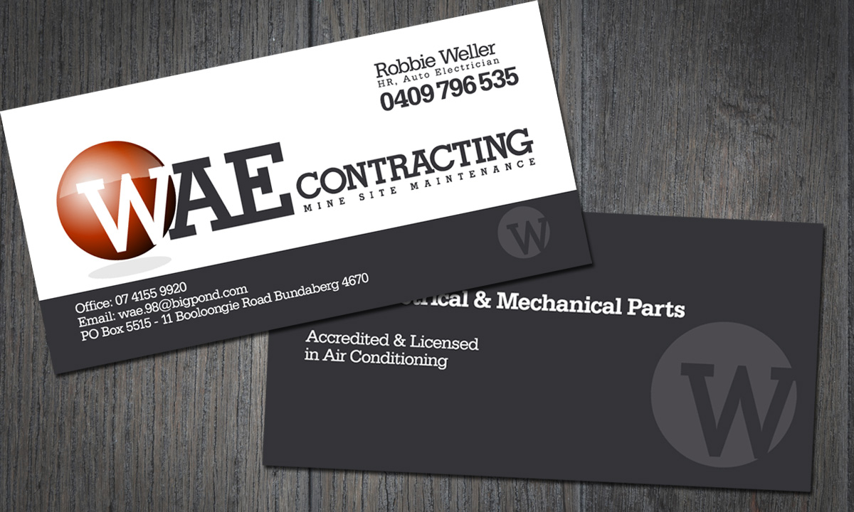 WAE Business Card by SignMax Bundaberg