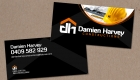 Damien Harvey Constructions Business Card by SignMax Bundaberg